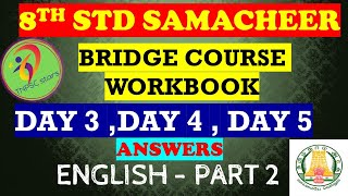Bridge Course | 8th Std | English | Workbook Answers | Part 2 | Samacheer