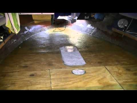Fiberglassing the Deck in the Sea Ray 220