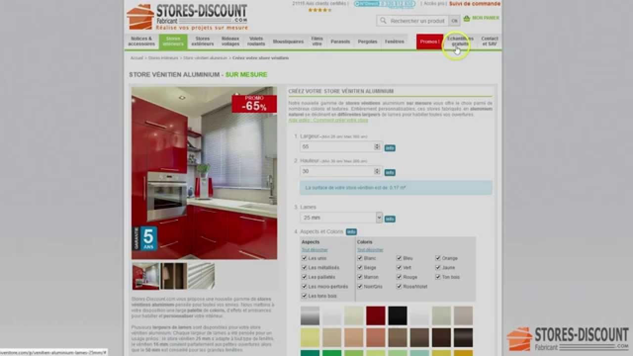 comment configurer votre store v nitien aluminium sur mesure youtube. Black Bedroom Furniture Sets. Home Design Ideas