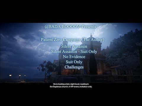 HITMAN: Patient Zero (The Author) - Silent Assassin, SA/SO, No Evidence, Suit Only