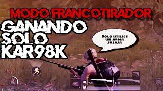 GANANDO en MODO FRANCOTIRADOR solo con KAR98K 🤯 PUBG Mobile - Gameplay en Español