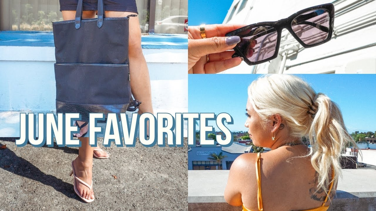 JUNE 2020 FAVORITES | New Everyday Sunglasses, AGOLDE Jeans Dupes, Milk Frother & Coffee + More