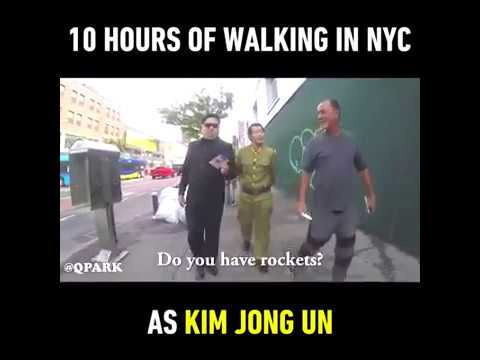 Kim Jong Un at NYC prank