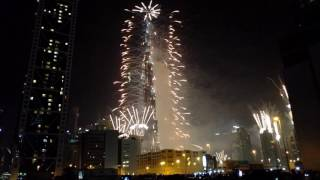 New Year Fireworks 2017 - Burj Khalifa - Dubai 4K - Full Video