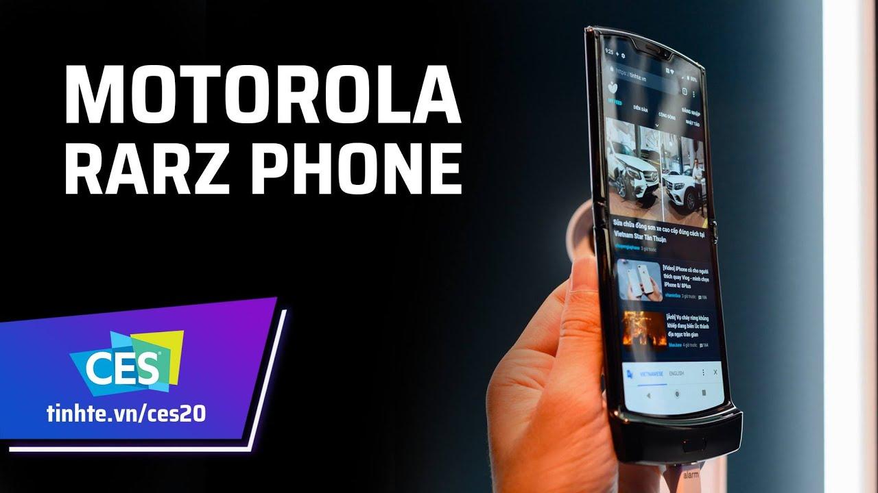 Trên tay Motorola Razr   chiếc điện thoại màn hình gập theo chiều dọc đầu tiên