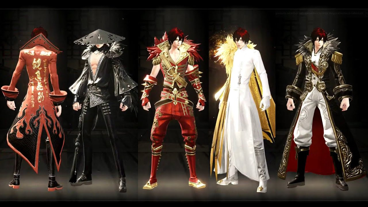 Revelation Online- Male Cash Shop Costume Sets - YouTube
