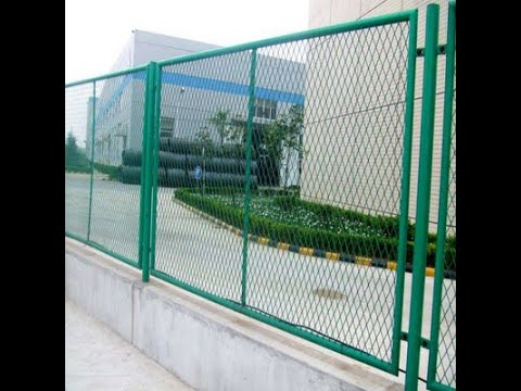 Expanded metal fence panel fence
