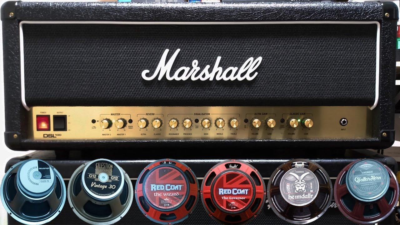 Marshall DSL100 HR - Review (Celestion, Eminence & Nordik)