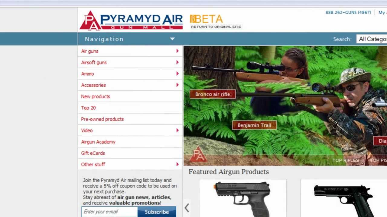 Pyramyd Air new web site!