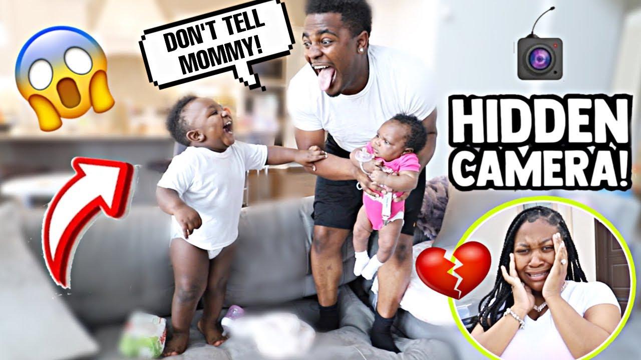 HIDDEN CAMERA ON DADDY WITH 2 KIDS UNDER 2 ! **MUST WATCH**
