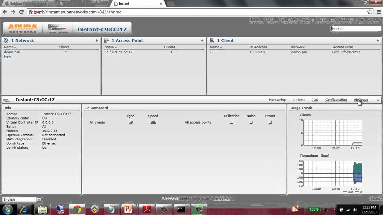 Basic AirGroup (Bonjour Gateway) Services on Aruba Networks