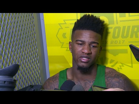 Jordan Bell gives emotional postgame interview after Oregon's loss to UNC