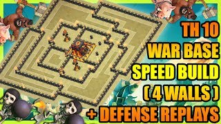 Clash Of Clans - Best Town Hall 10 (TH10) Anti 2 Star War Base + Defese Replays| ANTI AIR AND BOWLER