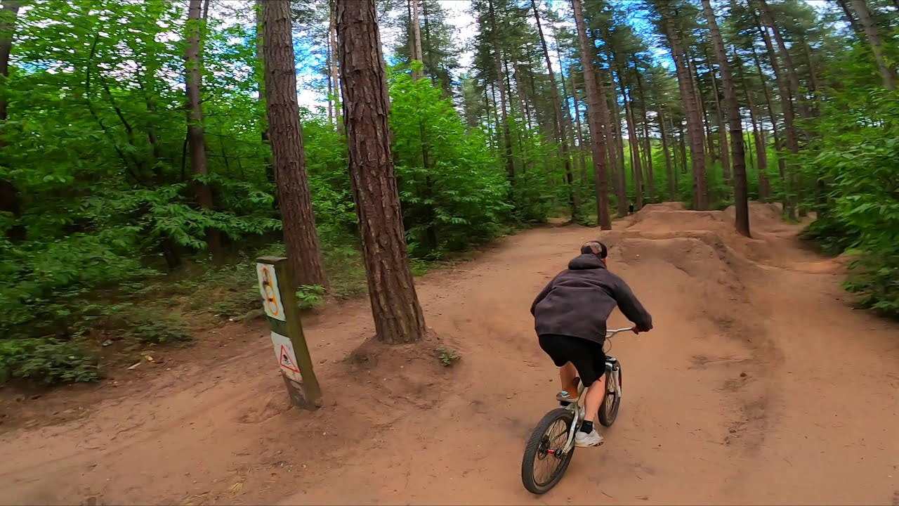 SHERWOOD PINES DIRT JUMPS FROM A FPV DRONE фотки
