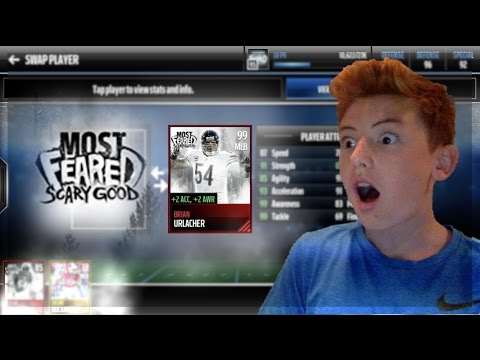 94 BRIAN URLACHER REVIEW! MOST FEARED MASTER EPIC STATS! MADDEN MOBILE 17