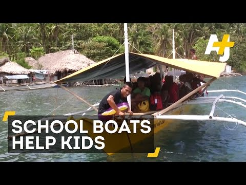 Yellow School Boats Give Kids An Education