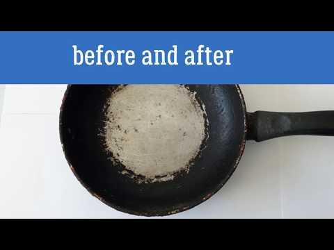 How to clean pans | Clean pans with baking soda