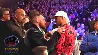 [Short-Clip] Conor McGregor​ and Sergey Kovalev​ exchanging words (at Michael Conlan's fight)