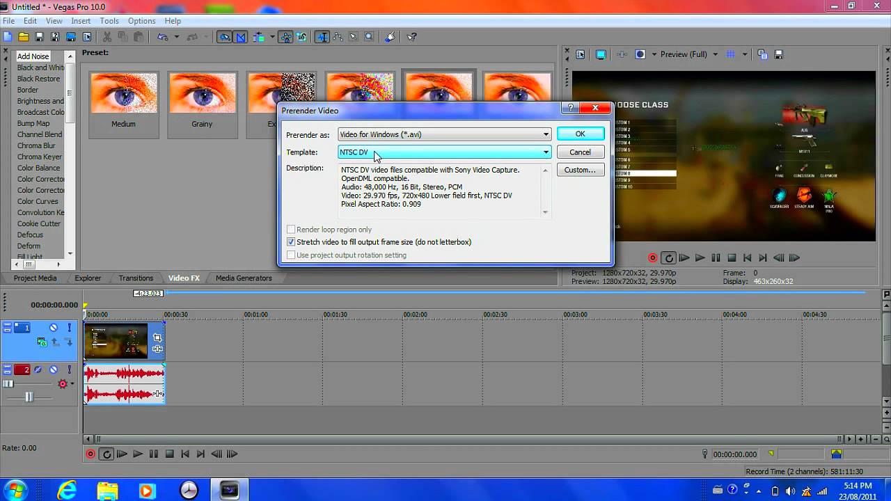 how to delete video in sony vegas