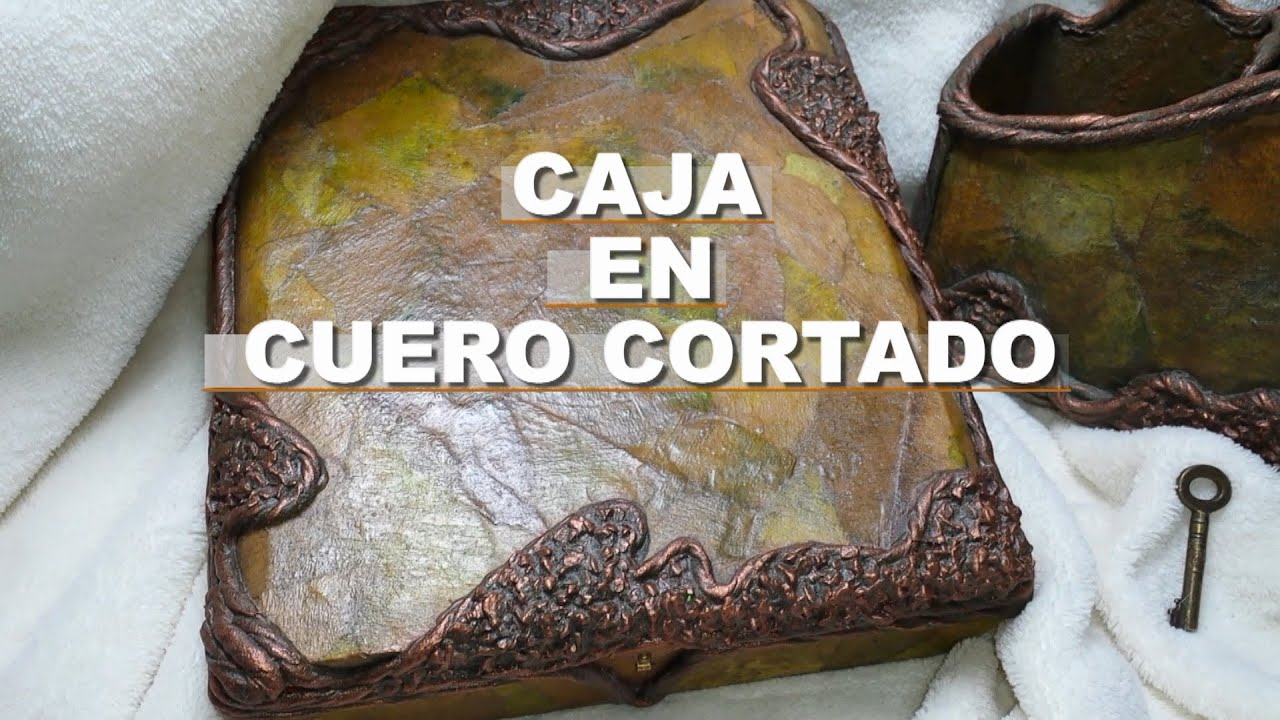 SAN VALENTIN CAJA DE CUERO CORTADOen cartapesta  YouTube