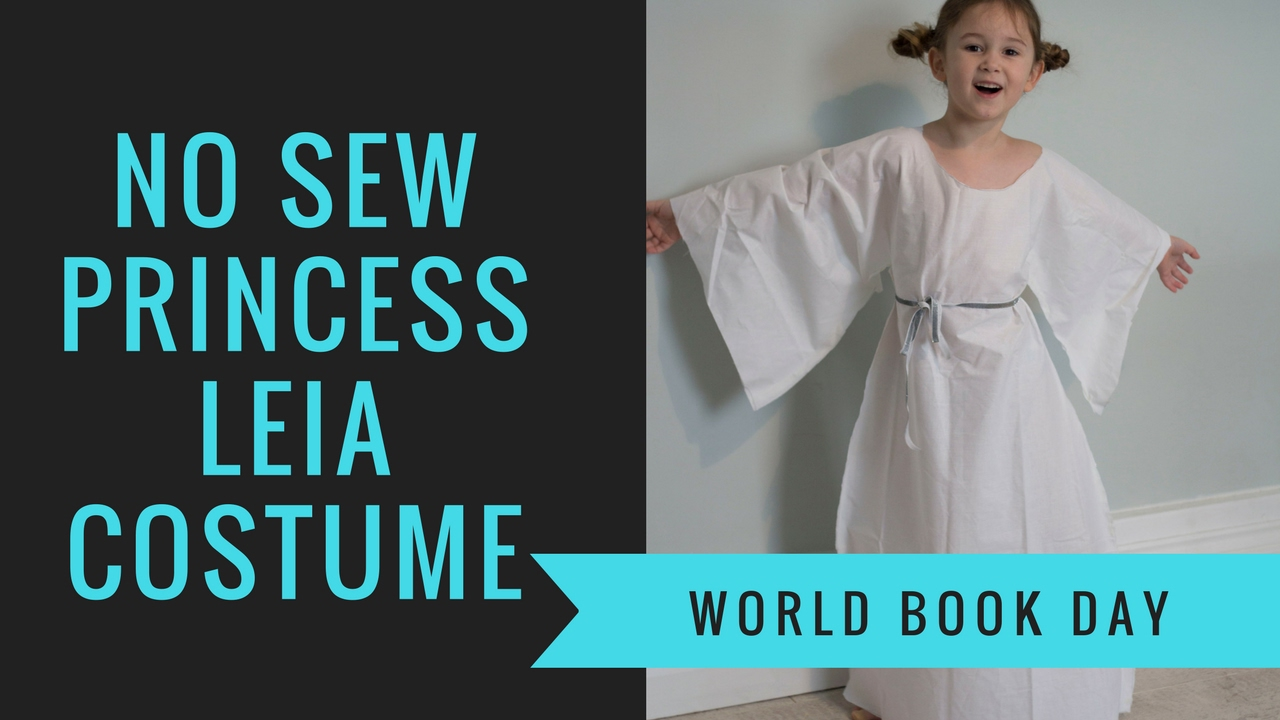 How To Make A No Sew Princess Leia Costume For World Book Day