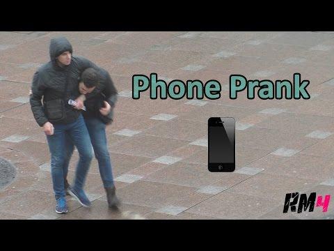 Кража телефона / Stealing phones Prank