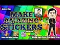 Make own FACE STICKERS by bobble app (Hindi) custom stickers