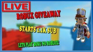 LIVE ROBLOX   GIVEAWAT START IN 1.1K  BOKU KEINE ROBLOX  Shoutout!