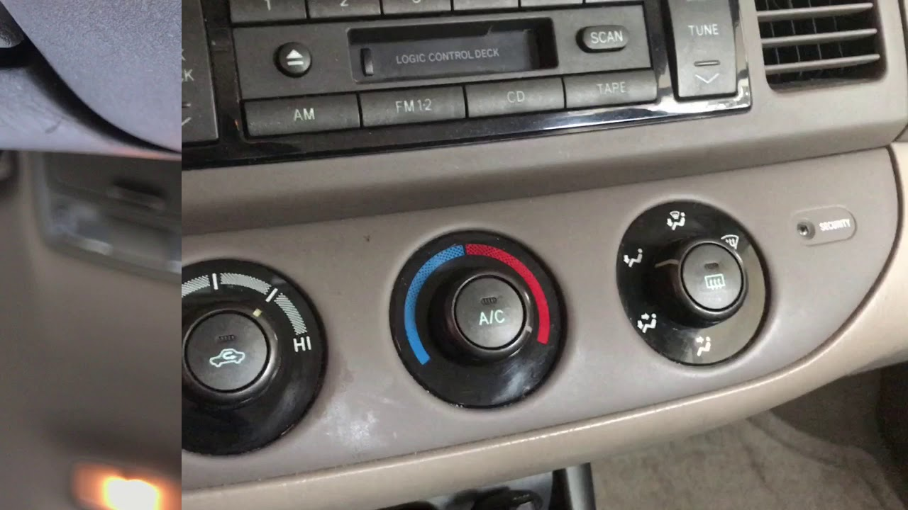 How To Fix 2002 Toyota Camry Air Vent Switch Control Problem