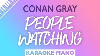 Conan Gray - People Watching (Karaoke Piano)