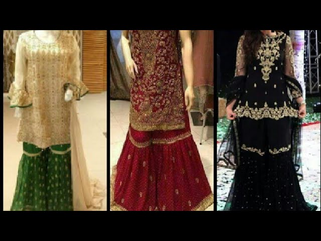 d758348487 Latest designer gharara/garara / new trend Indian Pakistani gharara design  for girls