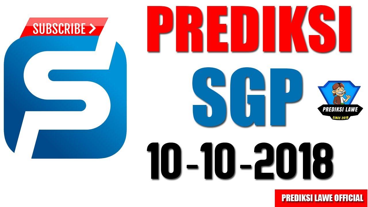Angka Jitu Prediksi SGP Hari Ini Rabu 10 Oktober 2018 - hmong video