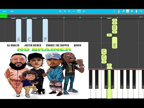 DJ Khaled No Brainer PIANO EASY ft. Justin Bieber, Chance the Rapper, Quavo
