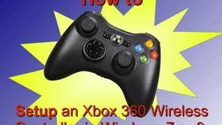 how to install the drivers for a wireless xbox 360 controller in windows 7 or 8