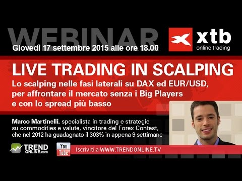 LIVE TRADING IN SCALPING