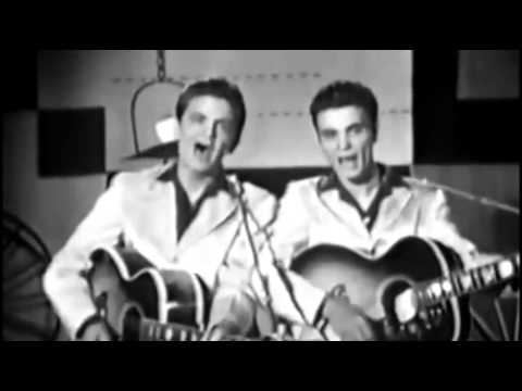 The Everly Brothers ~ Live ~ Bye Bye Love ~ 1957