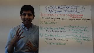 OCR AS Economics - 10 Marker Exam Technique