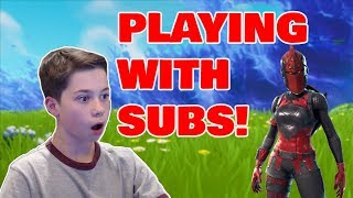 🔴  PLAYING WITH SUBSCRIBERS!  // FAST BUILDER // 15 YEAR OLD PLAYER