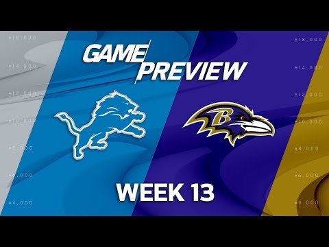 Detroit Lions vs. Baltimore Ravens | NFL Week 13 Game Preview | Move the Sticks