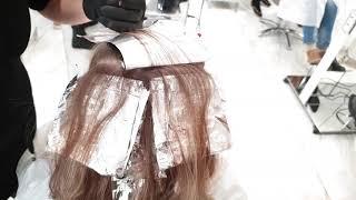 Прикорневое мелирование волос.