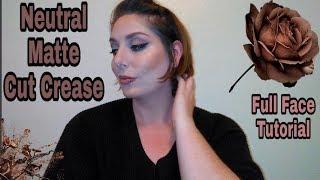 Neutral Matte Cut Crease: Full Face