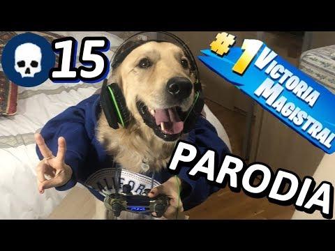 Mi Perro Ganando En FORTNITE #2 (Parodia) *15 KILLS*
