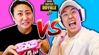 Lizzy Sharer vs Stove (Fortnite Season 8 Challenge)