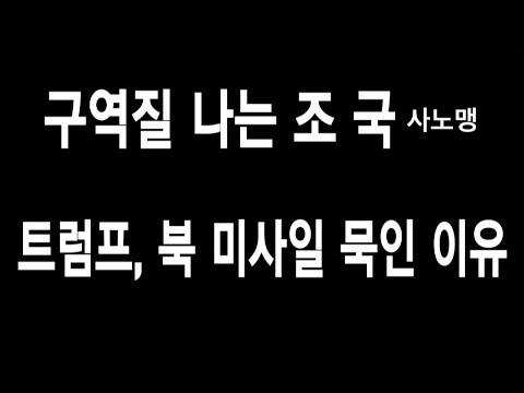 LA시사논평 / 생방송 0819 / 구역질 나는 조국 / 트럼프가 북한 미사일 묵인하는 깊은 뜻