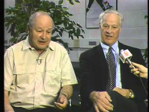 Gordie Howe and Glenn Hall