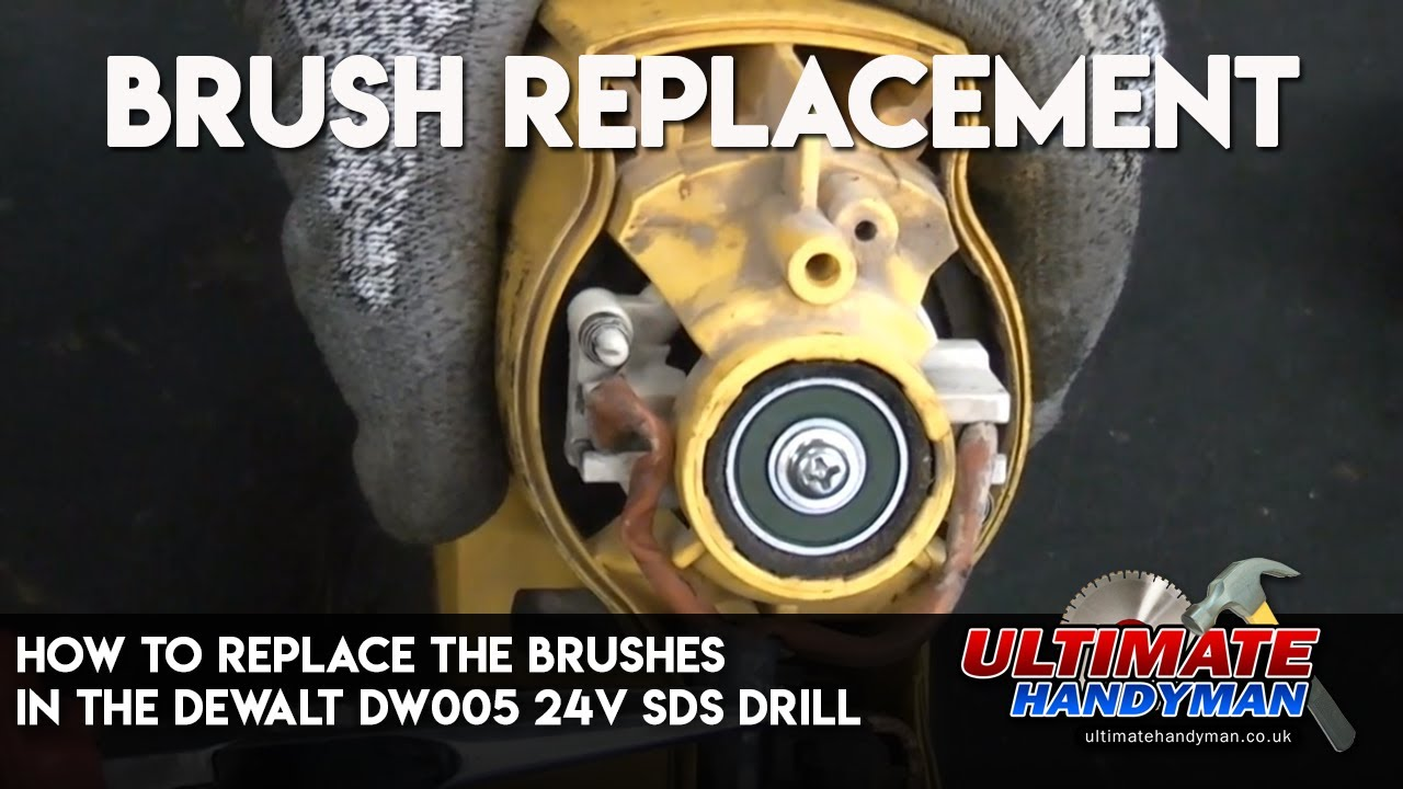 how to replace the brushes in the dewalt dw005 24v sds drill youtube
