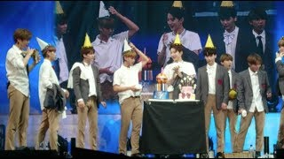 Video 170922 Wanna One Singapore fanmeet - celebrate Kuanlin birthday download MP3, 3GP, MP4, WEBM, AVI, FLV Maret 2018