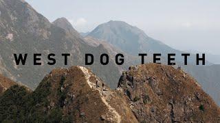 West Dog Teeth Hike, Hong Kong. 4K Aerial.