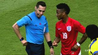 Raheem Sterling and Antonio Valencia Sent off During England v Ecuador Clash