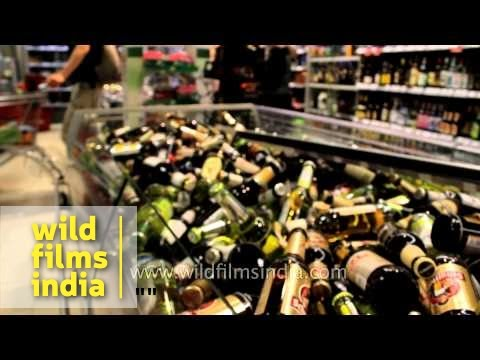 Germans love their beer; trash collector makes a living collecting beer bottles to recycle
